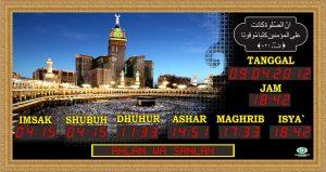 Jam Digital Masjid Tauqoly